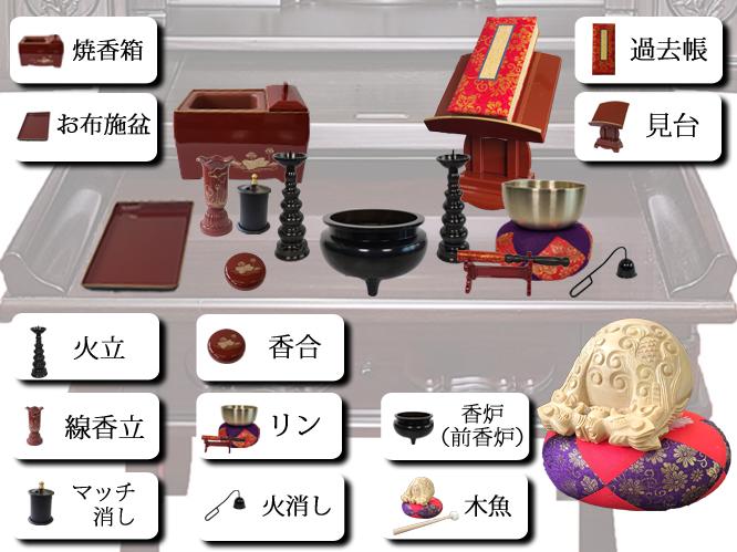 曹洞宗仏具の並べ方2