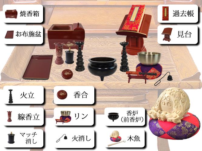 臨済宗仏具の並べ方画像2